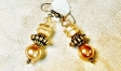 Gold & Pearl Drop Earrings