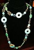 """Double Delight"" Jade & Chrysocolla Necklace"