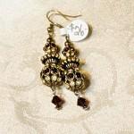 Ruby & Diamond Swarovski Crystal Drop Earrings