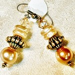 Gold & Pearl Drop Earrings