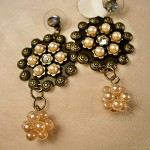 Antique Style Gold & Pearl Earrings