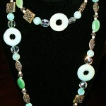 """""""Double Delight"""" Jade & Chrysocolla Necklace"""